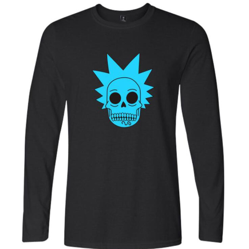 Rick and Morty Geek Long Sleeve T Shirt Men Women TV Tee Anime Funny T-Shirt Ricky Morty Cool Tshirts Tops Tees Homme Streetwear