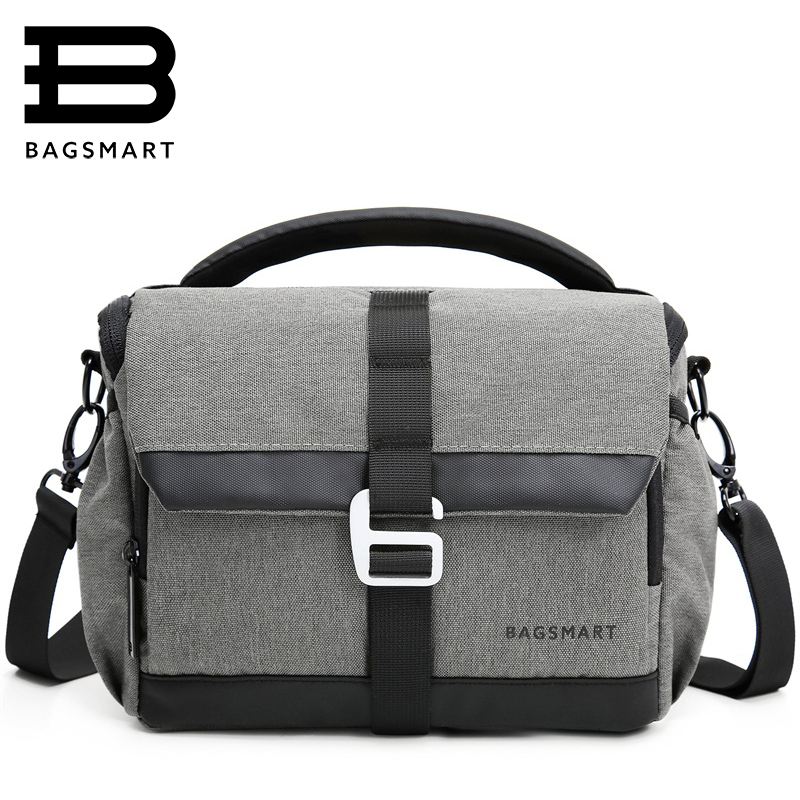 BAGSMART Waterproof Camera Case Bag for Canon Digital SLR / DSLR Compact Camera Messenger Shoulder Bag Camera Case To Travel lowepro protactic 450 aw backpack rain professional slr for two cameras bag shoulder camera bag dslr 15 inch laptop