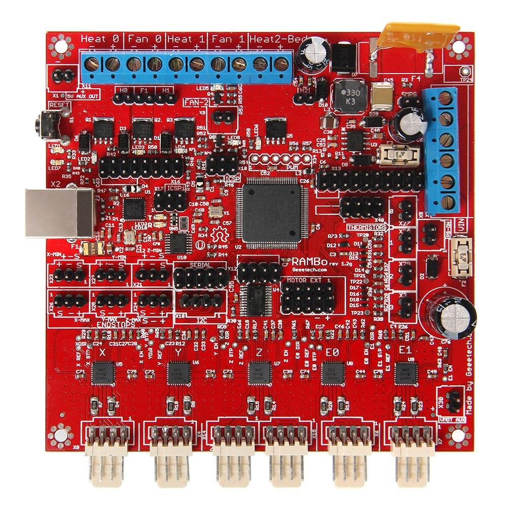 Kits d'imprimante 3D Geeetech carte de commande Rambo 1.2G Compatible avec Arduino livraison gratuite