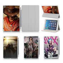 Case For Apple iPad Air /2 Tablets Equipment Cowl Case three Folders Sleep Wake Stand Protecting Sleeve Cowl For ipad 5 6