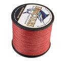 Hercules плетеный шнур для рыболовных лесок  8 проводов  мультифиламент  10-300 фунтов  PE 100 м-2000 м  красный  прочный  рыболовные принадлежности для к...
