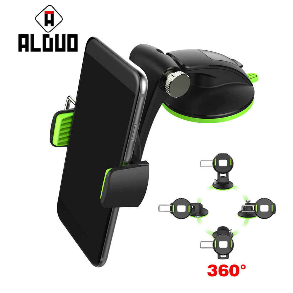ALANGDUO Universal 360 degree spin Car Windshield Mount cell mobile <font><b>phone</b></font> Holder Bracket <font><b>stand</b></font> for iPhone for samsung Smartphone