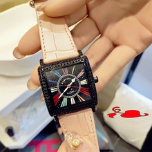 2019 Casual Style Ladies Student Quartz Watch New Fashion Full Rhinestone Dial Roman Scales Wild