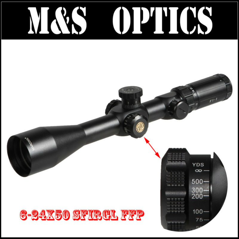 Marcool EVV 6-24X50 SFIRGL FFP 308 Rifle Scope Tactical Riflescope Scopes Hunting Optical Sight With Rangefinder For Rifles marcool 4 16x44 side focus front focal plane optical sights rifle scope hunting riflescopes for tactical gun scopes for adults