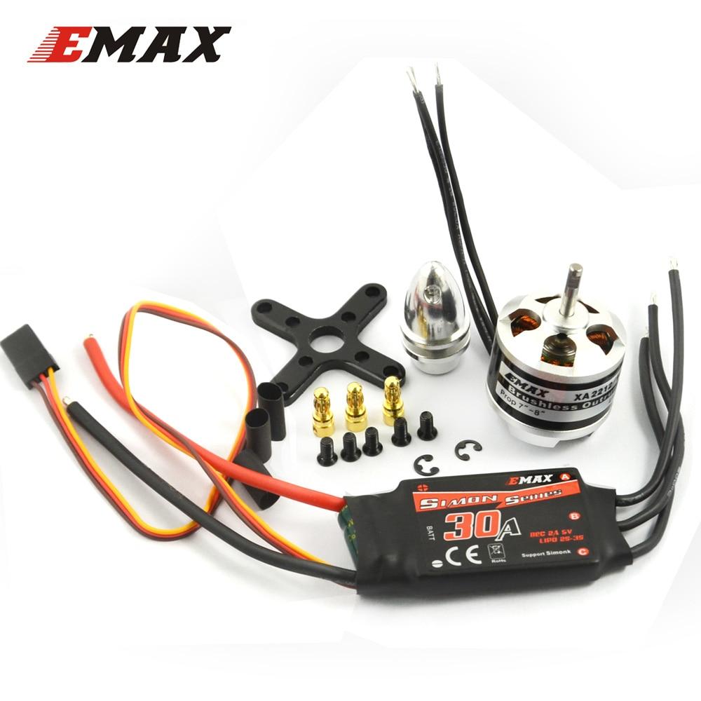EMAX Motor ESC Set 30A Simonk ESC Speed Contrller & XA2212 Brushless Motor with accessory 820KV/980KV/1400KV Optional 4set lot original emax emax xa2212 820kv 980kv 1400kv 3s brushless motor for mini 250 280 fpv quadcopter quadcopter