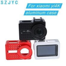 For xiaomi yi 4K camera accessories Aluminium Alloy Metal Housing Frame Protective Case +UV filter for Xiaomi Yi II 4k 4K+camera
