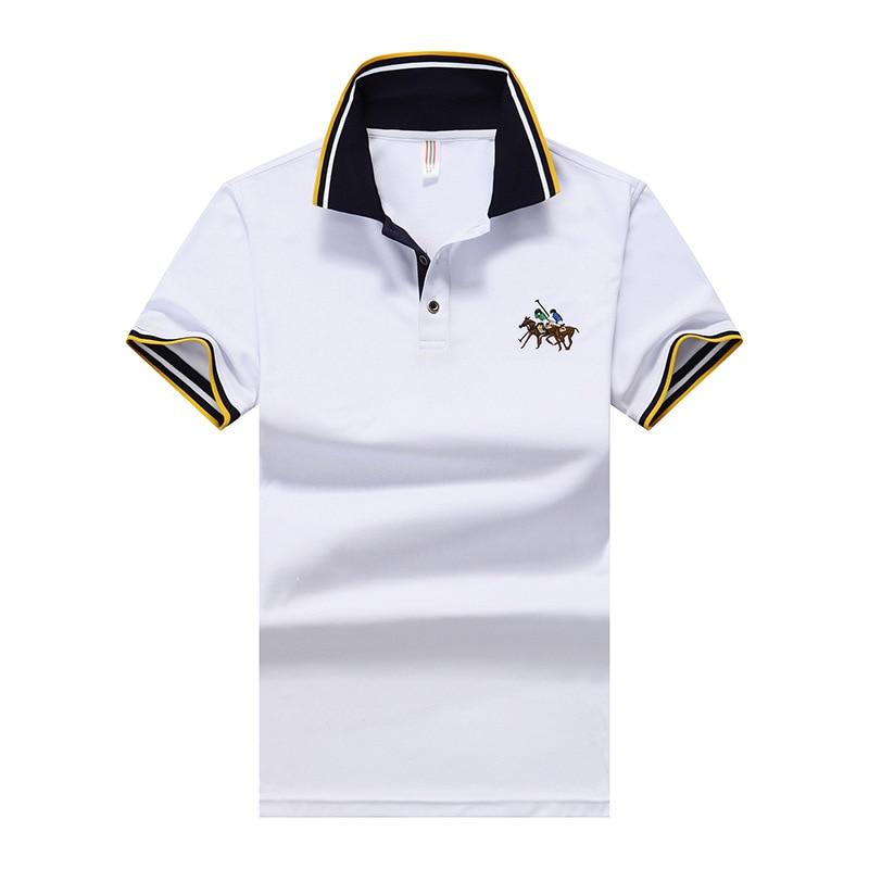 Bordados dos homens dos homens Camisa Plo de Alta Qualidade Camisas de Algodo Listrado Casuais   Polos   Size m-8XL;