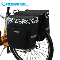 ROSWHEEL 30L Bicycle Bag Bike Double Side Tail Rear Bag Saddle Cycling Bicicleta Basket Rack Trunk Bag Accessory 2 Colors