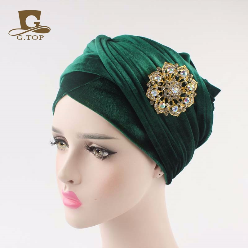 7811612243f New women luxury hijab velvet Turban Head Wrap Extra Long velour ...