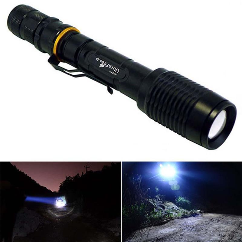 все цены на HY-2327 18650 Flashlight 3w 3000 Lumen Zoomable XML T6 LED Focus Torch Lamp Light Adjustable 5 models онлайн