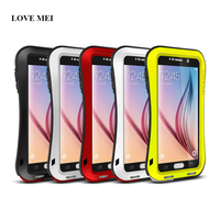 LOVE MEI Small Waist Metal Case For Samsung Galaxy S6 G9200 G920F G920 Aluminum Cover Shockproof