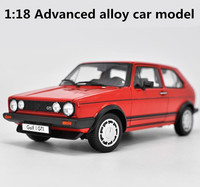 High Simulation 1 18 Advanced Alloy Car Model Volkswagen Golf GTI 1983 Metal Castings Collection Toy