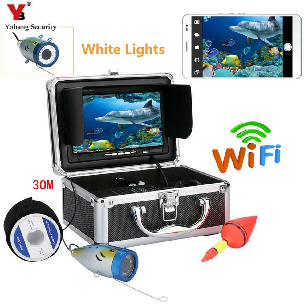 Yobang безопасности 30 м 1000TVL 7 WiFi Водонепроницаемый Ice Рыболокаторы Подводная охота Камера видео Камера Наборы для IOS Android приложение