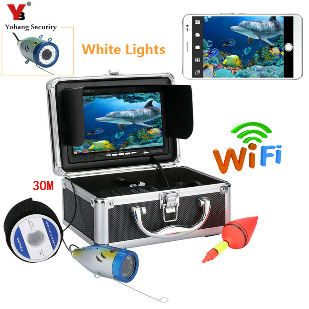 Yobang Security 30M 1000TVL 7Wifi Waterproof Ice Fish Finder Underwater Fishing Camera Video Camera Kits For IOS Android APP