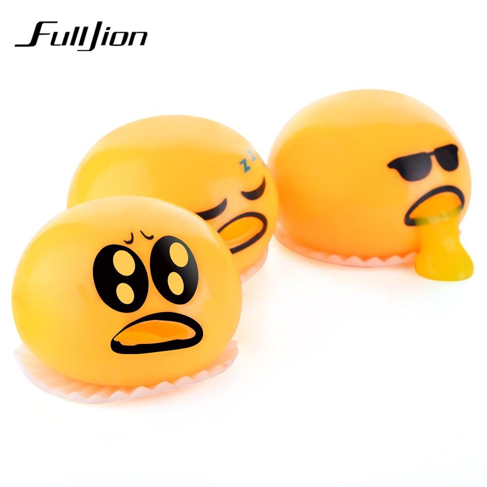 Fulljion Novelty Gag Toy Practical Jokes Antistress Vomiting Egg Yolk Lazy Brother Fun Lizun Gadget Squeezed Slime Creative Gift