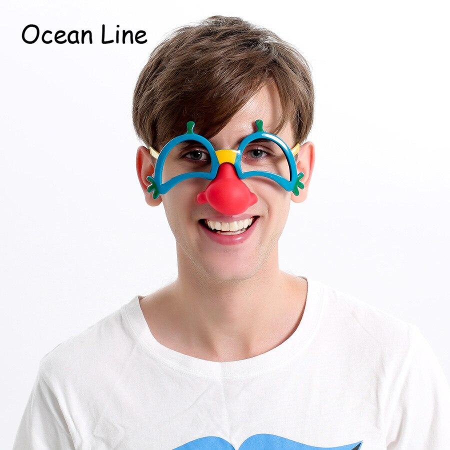 빨간 코 가려운 마스크 가사 복장 의상 파티 소품 재미있는 서커스 광대 안경 액세서리 축제 파티 용품 장식