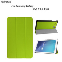 Viviration Stand Style Tablet Case Slim Magnet PU Leather Smart Case For Samsung Galaxy Tab E