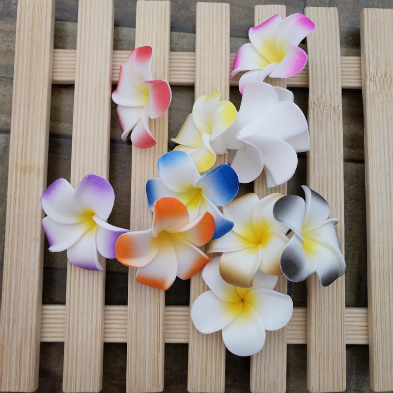 HappyKiss10Pcs 4cm/5CM/6CM/7CM/8CM Plumeria Foam Frangipani Flower Artificial Silk Fake Egg Flower For Wedding Party Home