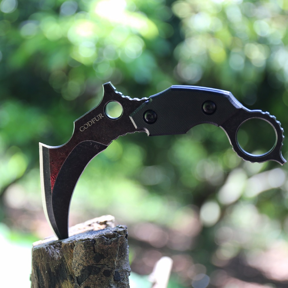 Scorpion claw knife machete self defense saber field survival knife commando raccoon hawk claw gift knives