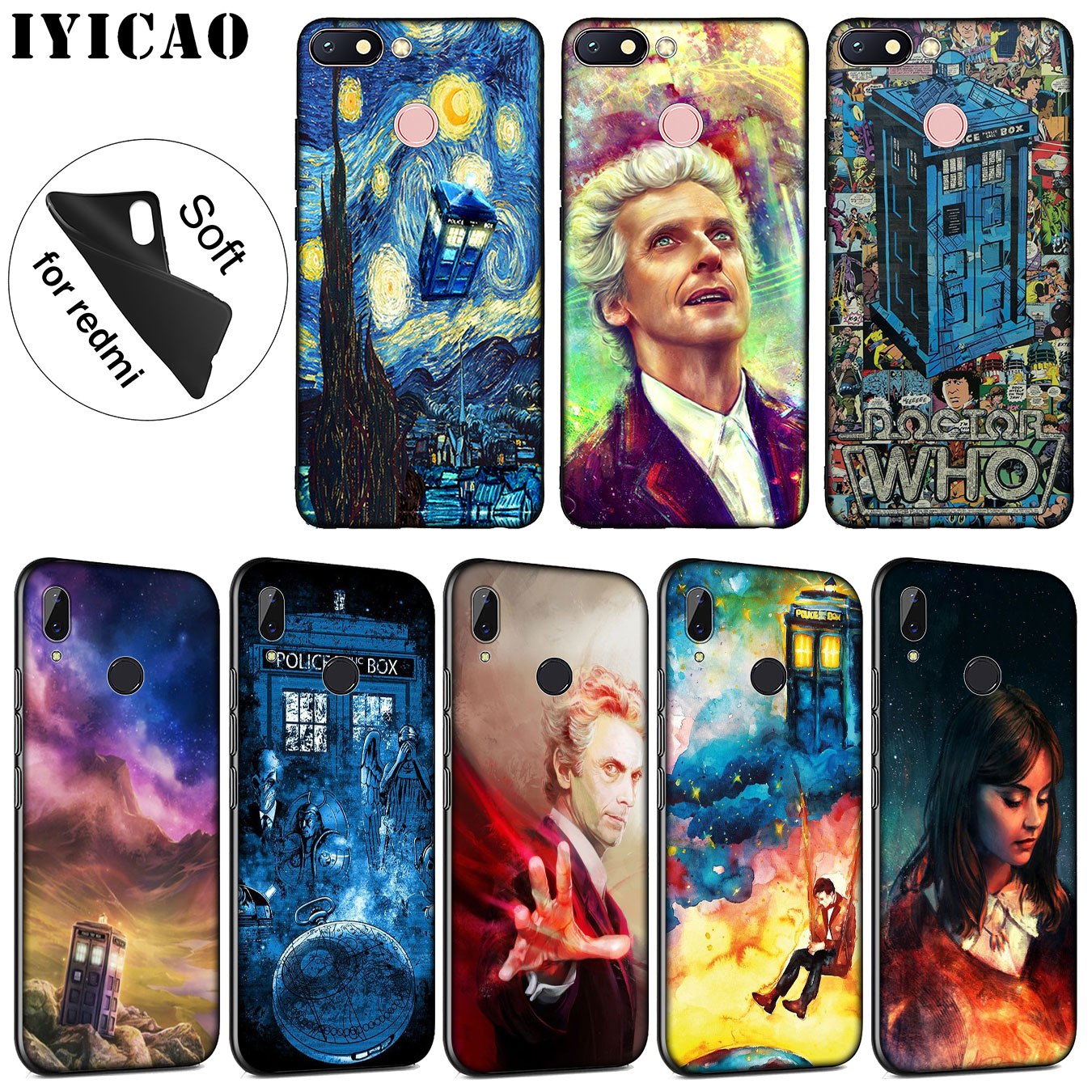 Initiative Iyicao Tardis Box Doctor Who Soft Silicone Phone Case For Xiaomi Redmi 6a 5a Note 7 4 4x 5 Plus 6 Pro Black Tpu Cover Phone Bags & Cases