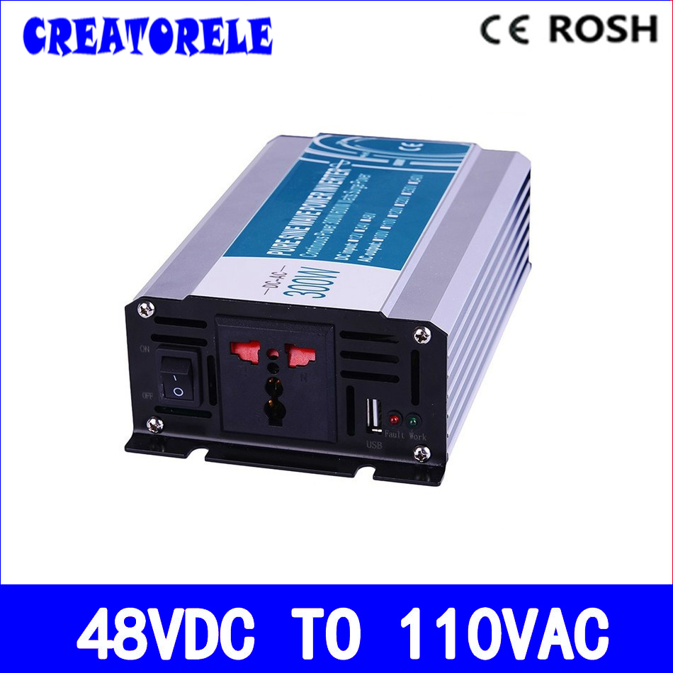300w inverter 48v dc to 110v ac inversor pure sine wave power inverter voltage converter solar inverter P300-481 solar power on grid tie mini 300w inverter with mppt funciton dc 10 8 30v input to ac output no extra shipping fee
