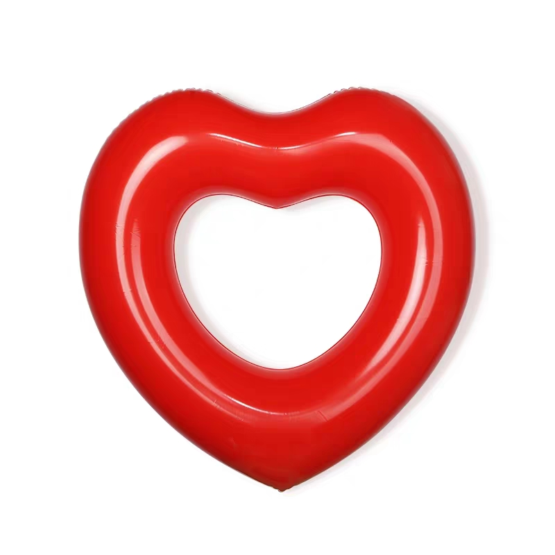 Love Swimming Ring Inflatable Swimming Equipment High Quality Lifebuoy Summer Beach Party Pool Float Toys Thicken Children Adult in Swimming Rings from Sports Entertainment