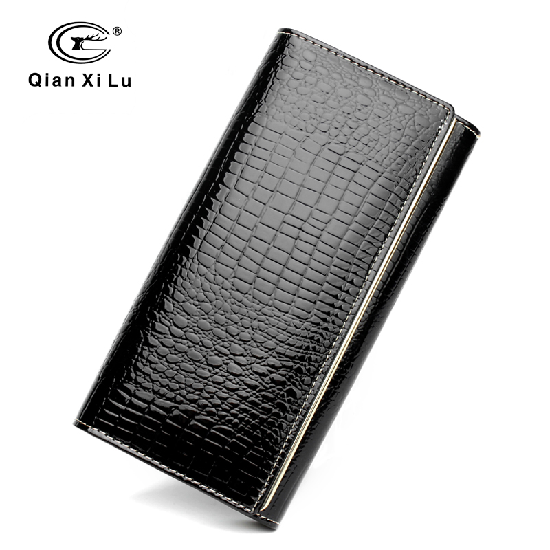 Qianxilu Značka Módní Alligator Dámské peněženky a peněženky - Peněženky