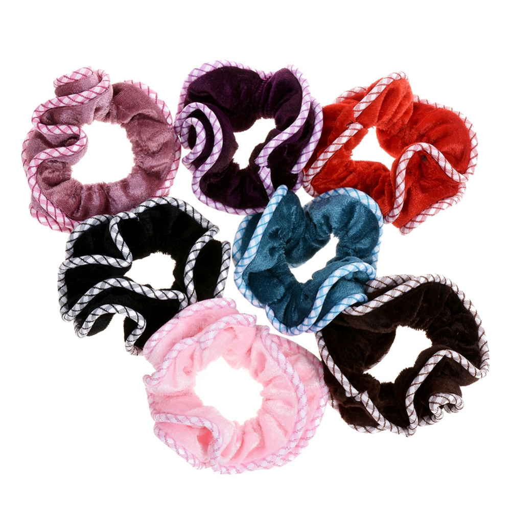 1 Pc New Fashion Colorful Women Velvet Hair Ring Elastic Hair Bands Hair Accessories For Women Hair Rope