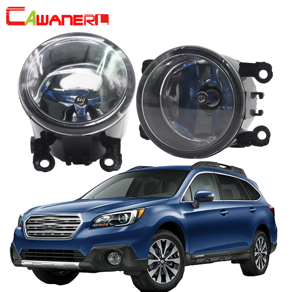Cawanerl For Subaru Outback 2010-2012 100W H11 Car Light Accessories Halogen Fog Light Daytime Running Lamp DRL 12V 2 Pieces hot sale abs chromed front behind fog lamp cover 2pcs set car accessories for volkswagen vw tiguan 2010 2011 2012 2013