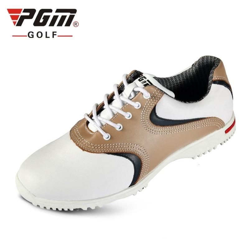 Designer Golf Shoes Men Breathable Genuine Leather Outdoor Sneakers Men Waterproof Trainers Size Eu 39-44 AA10100 mens women golf shoes genuine leather shoes british style waterproof breathable free shipping