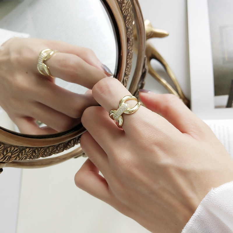 Ringe Edler Schmuck Louleur 925 Sterling Silber Zirkon Pull Schnalle Offene Ringe Gold Mode Wilden Index Finger Ringe Für Frauen Luxuriöse Schmuck Geschenk Produkte Werden Ohne EinschräNkungen Verkauft