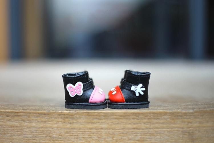 2.2 cm longueur moyenne Blyth poupée chaussures longues bottes disponibles pour OB11 cu-poche Middie Blyth poupée accessoires chaussures pour poupées