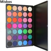 Miskos 35 Цветовая палитра Eyeshadow Silky Powder Профессиональный макияж Pallete Косметика для косметики Eye Shadow 35E