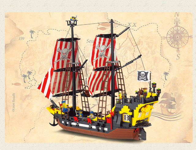 Online Shop Compatible With Lego Enlighten 308 Pirates Ship Series