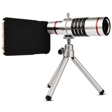 Best price Universal Mobile Phones 18X Zoom Phone Telescope Telephoto Camera Lens + Tripod Aluminum Protective Shell For iPhone For Android