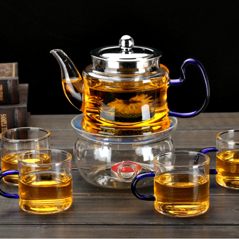 Image 4 - Good Clear Borosilicate Glass Teapot With 304 Stainless Steel Lid Glasses Infuser Strainer Heat Resistant Black tea pots-in Teapots from Home & Garden on AliExpress