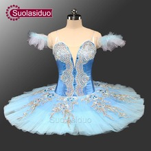 Adult Classical Ballet Tutu Blue Pancake Platter Tutu Costumes Professional Performance Competition s Stage Dancewear  SD0071 adult professional ballet tutu costume white coppelia competition performance pancake tutu classical ballet stage costume