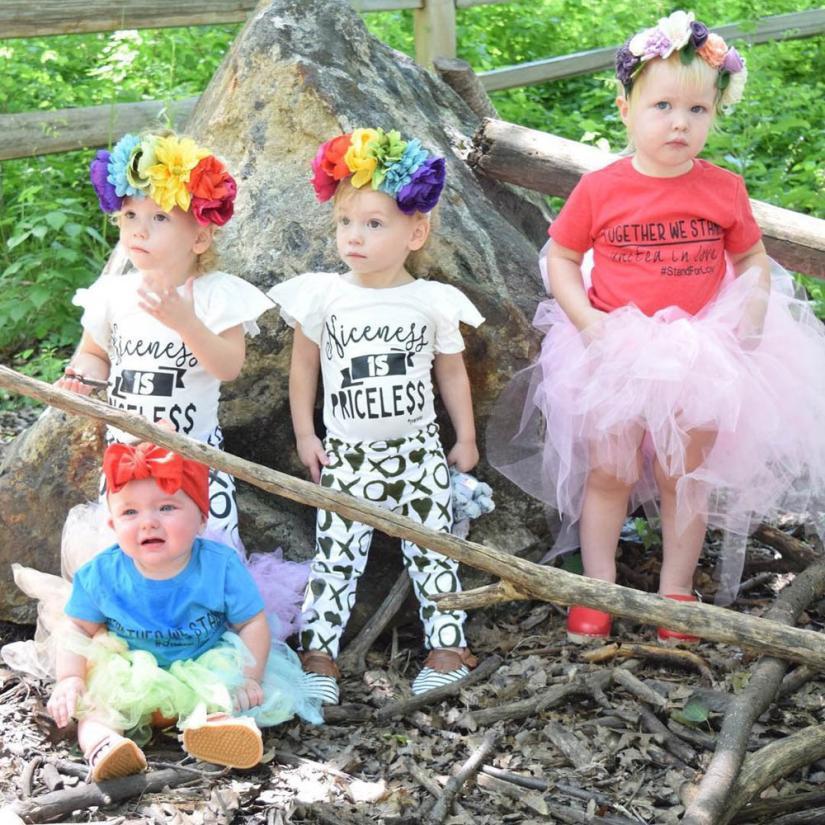 Kids T-Shirt Short-Sleeve Long-Pants Girls Outfit Toddler Baby Fashional 1set Beautiful