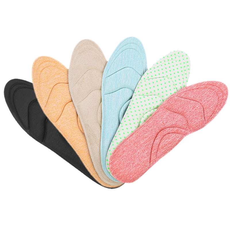 Newest 1Pair Women High Heels Sponge 4D Shoe Insoles Cushions Pads Arch Support Orthotic Care high heels sponge 3d 4d shoe insoles cushions pads diy cutting sport arch support orthotic feet care massage 1 pair women