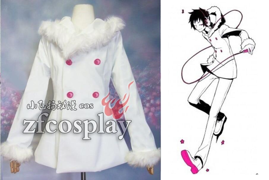 Orihara Izaya cos Anime DRRR Cosplay Halloween Man Woman daily White Coat Cosplay Costume