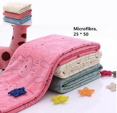1pc Fashion Cartoon Bunny Rabbit Microfiber Baby Kids Beach Bath Hair Face Towel For Bathing Swimming Absorbent Quick Dry