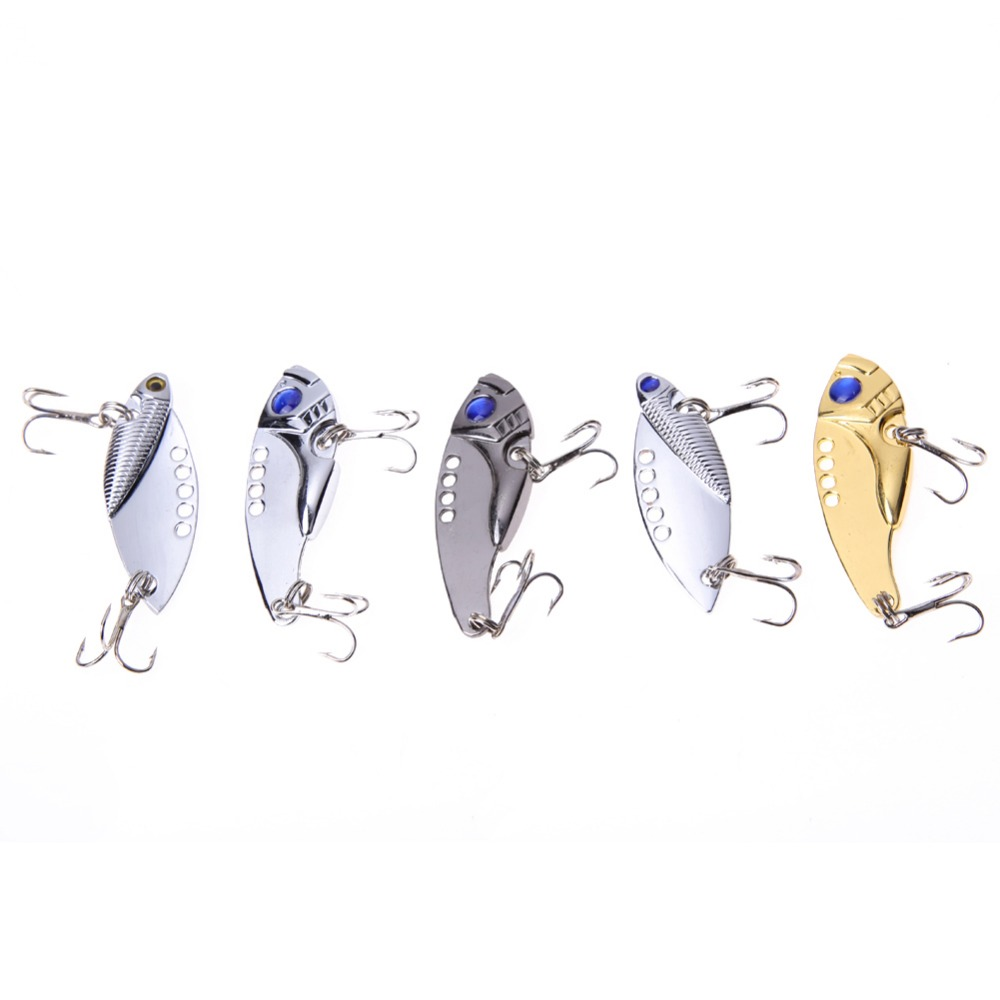 New Lot 5pcs Metal Fishing Lures Bass CrankBait Spoon Crank Bait Fish Wobbler Tackle #6 Hooks Hard Bait Swimbait ISP 1pcs lifelike 8 5g 9 5cm minow wobblers hard fishing tackle swim bait crank bait bass fishing lures 6 colors fishing tackle
