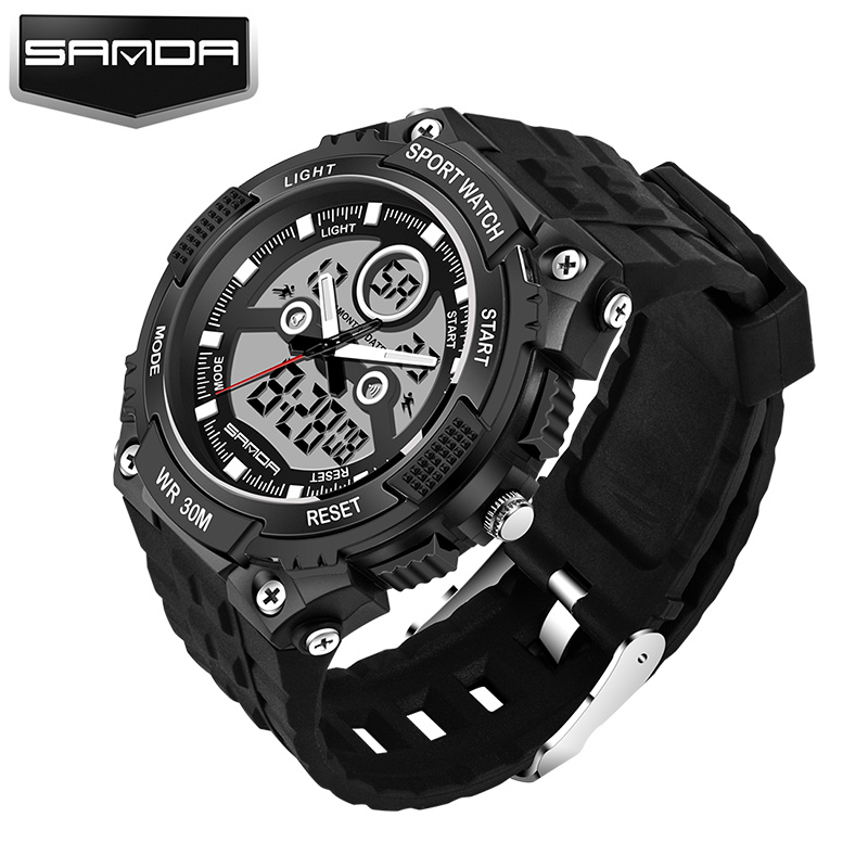 SANDA Sport Wrist Watch Men Top Brand Luxury Famous Digital Watches LED Male Clock Electronic Digital-watch Relogio Masculino drop shipping gift boys girls students time clock electronic digital lcd wrist sport watch july12