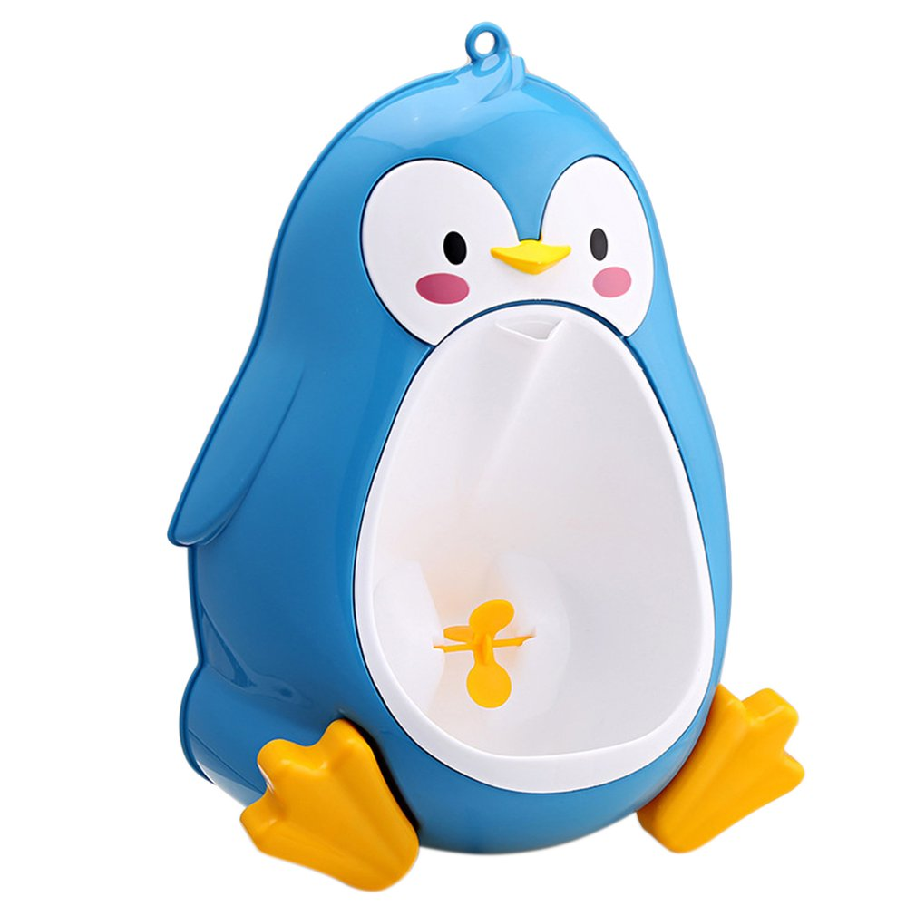 Baby Potty Toilet Training Boys Standing Urinal Penguin Shape Wall-Mounted Children Stand Vertical Urinal Potty For Children
