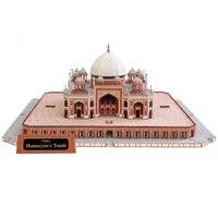 Indien Humayun Handwerk Papier Modell Architektur 3D DIY Bildung Spielzeug Handmade Adult Puzzle Spiel