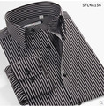100% Cotton Stripe Long Sleeve Camisa Masculina Casual Dress shirts New Fashion Brand Imported Clothing Asia Size XS -6XL