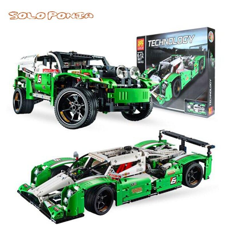 1219 sztuk kompatybilny Legoingly 3364 Technic 2 w 1 wyścig samochodów i SUV pojazdów Racer samochód sportowy klocki zabawki pojazd blok w Klocki od Zabawki i hobby na  Grupa 1