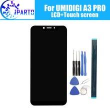 UMIDIGI A3 PRO wyświetlacz LCD + ekran dotykowy 100% oryginalny przetestowany wyświetlacz LCD Digitizer wymienny szklany Panel dla UMIDIGI A3 PRO