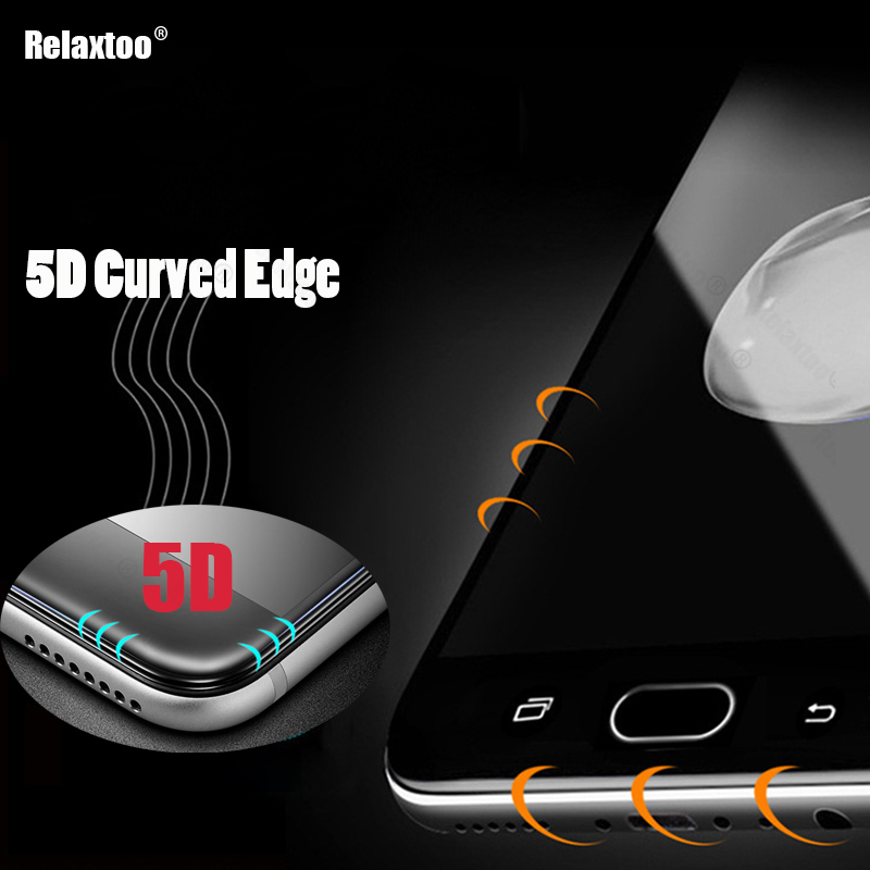 5D Full Cover Tempered Glass For Samsung A5 2017 Galaxy A3 A7 2017 J7 J5 J3 2017 J5 J7 Prime A8 2018 Case Screen Protector Glass