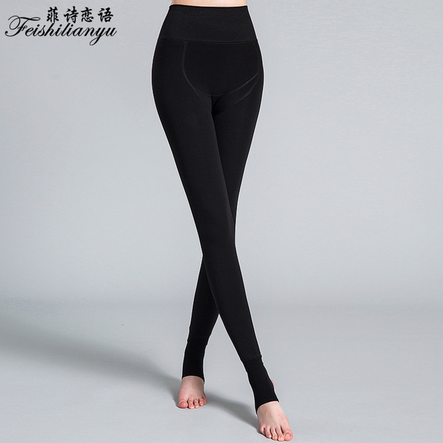 Elastic thicken lady's skinny pants High quality 2016 autumn Winter new women's Warm pants elastic leggings Knitting 9315